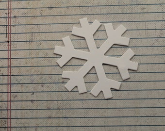 White cardstock small Snowflake Diecuts 3 inches wide