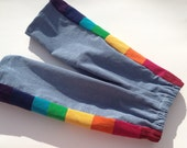 Pants for Boys or Girls...baby  toddler... rainbow corduroy patchwork... 6 months, 12 months, 18 months, 2T, 3T, 4T, 5, 6