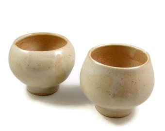Tea Cup Set -  Whiskey - Espresso - Sake - Cordials - Great Fathers Day Gift - Wheel thrown Stoneware Clay - Ships Today
