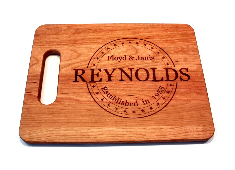 Wedding Gift Cutting Board: Personalized Wedding Gifts Cutting Board Wedding Gift Ideas