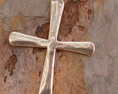 Tall African Cross in Sterling Silver, Large Coptic Cross, AD468