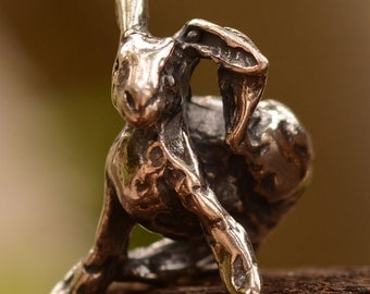 Rustic Bunny Sweetest Ever Sterling Silver Charm Bead