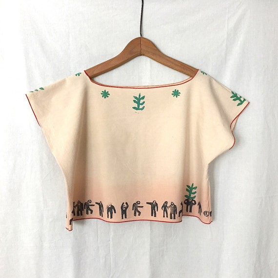 Hand Printed Crop Top from brilliantstranger
