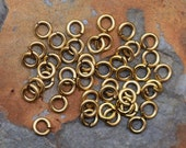 Small Thick 5.5mm Jumprings, Antique Gold Nunn Design