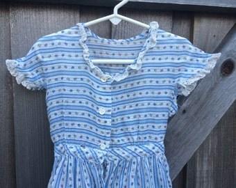 1950s Garden Dress Girls 4/5