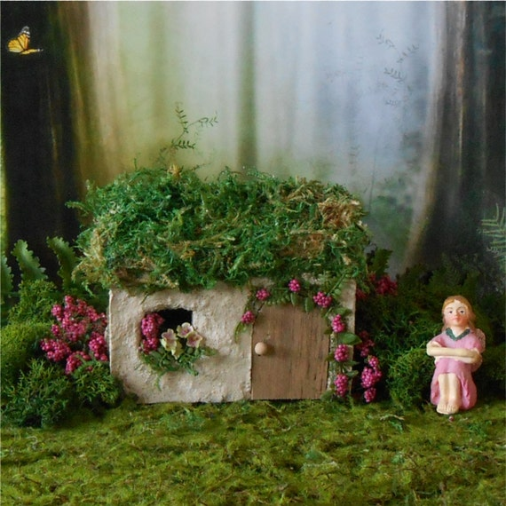 Irish cottage fairy house fairy garden by enchantedgardens for Irish fairy garden