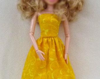 "11.5"" Fashion Doll Handmade Dress is ready now - Dark yellow"