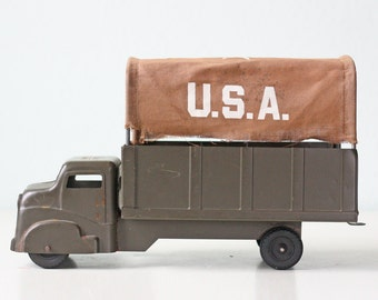 Vintage USA Truck, Structo Army Truck