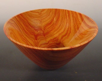 Exotic Tulipwood Turned Wood Bowl number 6222 by Bryan Nelson