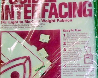Interfacing Fusible and Sew in One Pack of Each
