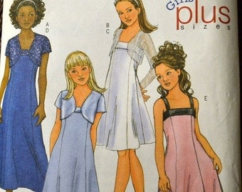 ON SALE Sewing Pattern Butterick 4385 Girls' Dress and Jacket  Size 7-14 COMPLETE