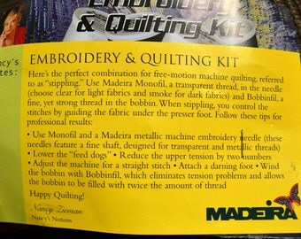 Machine Embroidery & Quilting  Thread Kit Madeira
