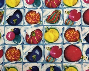Christmas ornament fabric - 2 yards x 43 inches