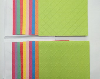 Cards 20 and envelopes for embellishing  - bright colors - blank notes 4.25 x 5.5
