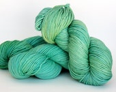 SPEARMINT, orange label hand dyed cashmere/silk single worsted weight yarn