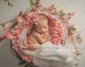 Reserved Listing for Katrina Newborn photography props in baby pink, lavender and teal