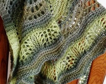 New .PDF Knitting Pattern For Prowes Shawlette - Knit Your Own Mouse Army Designed Shawl In Slow Self-Striping Sockweight Yarn