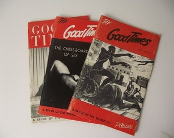 Good Times Vintage Adult Erotic Magazines Set of Three 1950's Swingers Scene
