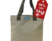 40%off Holiday Sale! T3 SUN Espresso Sunbrella canvas bucket open shopping tote bag TESAGE by Yukiko Sato New York