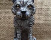 Customize your Pet Cat Kitten clay folk art sculpture likeness portrait or memorial