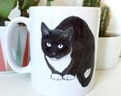 cat illustrated mug