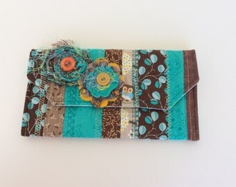 """Scrappy and Shabby Quilted Wallet """"FREE DOMESTIC SHIPPING"""" #2"""