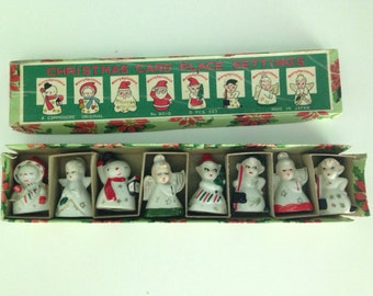 Vintage Commodore Christmas Card Place Settings 8 Pieces