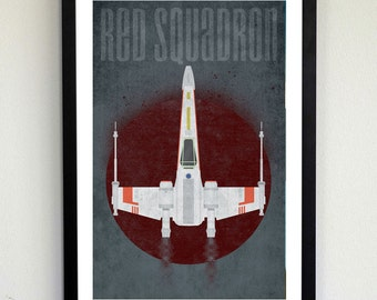 Red Squadron - Star Wars X-wing poster