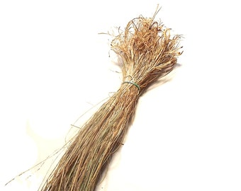 Yucca Natural Fiber Baskets Crafts Cordage Basketry Organically Grown Hand Processed Native American Plant Material Hackled Yucca Fiber