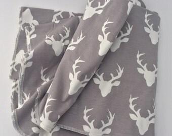 SALE Bucks XL Knit Cotton Swaddle Blanket