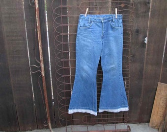 70s Levis 684 Big Bell Jeans 70s denim jeans levis Bell Bottoms Levis jeans Orange Tab USA made 30 Boyfriend Levis Jeans