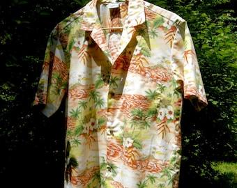SALE Vintage Royal Creations Hawaiian Shirt - Catamarans - Size L