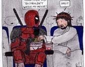 Deadpool, Jesus, and John Piper CARTOON