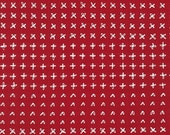 Blueberry Park fabric, Red fabric, Karen Lewis Textiles, Best Seller, Cotton fabric by the yard, Allotments in Chinese Red, Choose your cut