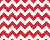 Sale fabric, End of the Year Sale, Fabric by the yard, Chevron fabric, Red fabric, Red Medium Cream Chevron, Riley Blake, Choose your cut