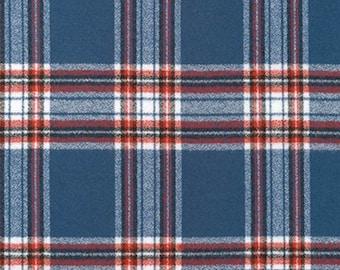 Flannel Fabric, Mammoth Plaid Flannel, Buffalo Plaid, Red and Blue Flannel, Lumberjack Chic, Robert Kaufman, Mammoth Flannel Americana 105