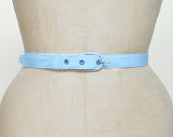 1950s Blue Belt --- Vintage Buckle Belt