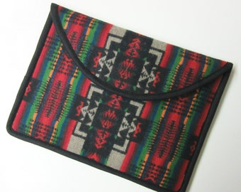 "13"" Macbook Pro Laptop Cover Sleeve Case Tribal Inspired Blanket Wool Native American Print"