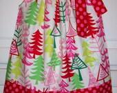 Christmas Dress Pillowcase Dress Yule Trees Dress Michael Miller baby dress toddler dress girls dress Holiday Dress Christmas Outfit