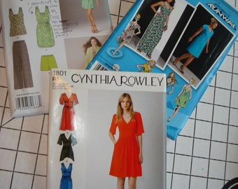 Three Misses Dress and Ensemble Patterns Various Sizes Simplicity 1668, 2359, and 1801