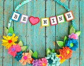 BE MINE  -- Large Fanciful and Fun Valentine Hoop
