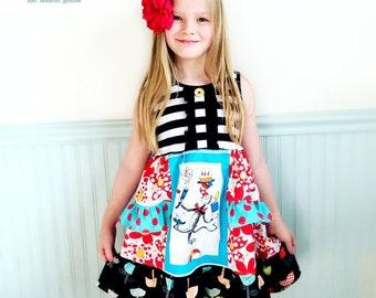 Read Across America Dr. Seuss dress Pink Momi boutique girls birthday vacation dress