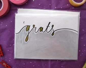 Grats - Handmade Greeting Card