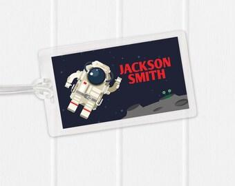 Astronaut Bag Tag - Space Bag Tag - Diaper Bag Tag - Kids Bag Tag Luggage Tag