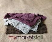 Basketweave Baby Blanket - Layering - Photo Prop or Stroller  - in Wood, Grey Tweed or Fig - Ready to Ship