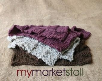 Basketweave Baby Blanket - Layering - Photo Prop - in Wood, Gray Tweed or Fig - Ready to Ship