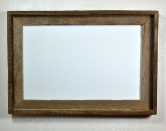 11x17 reclaimed  wood poster frame add an eco friendly accent to the office or your home