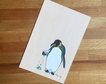 Creature Discomforts - A Sad Day for Penguin - 4x6 Limited Edition Archival Digital Reproduction