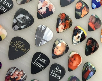 Custom Guitar Pick, Photo Guitar Pick, Personalized Guitar Pick, Guitar Picks, Guitarist Gift Idea