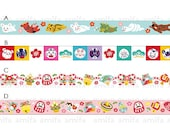 New Year & Animal Symbol Washi Tape • Amifa Masking Tape • Zodia Animal • Japan Washi Tape (34226)